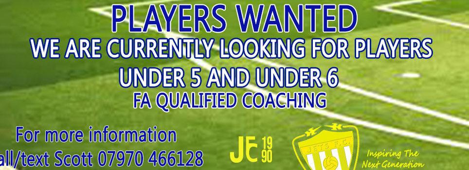 Players Wanted U5 and U6